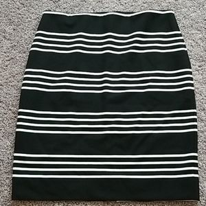 WHBM black/off white stripe skirt-14